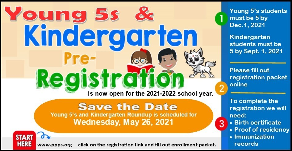 Kindergarten/Young Fives Registration!