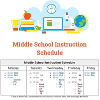 Weekly Instructional Schedule