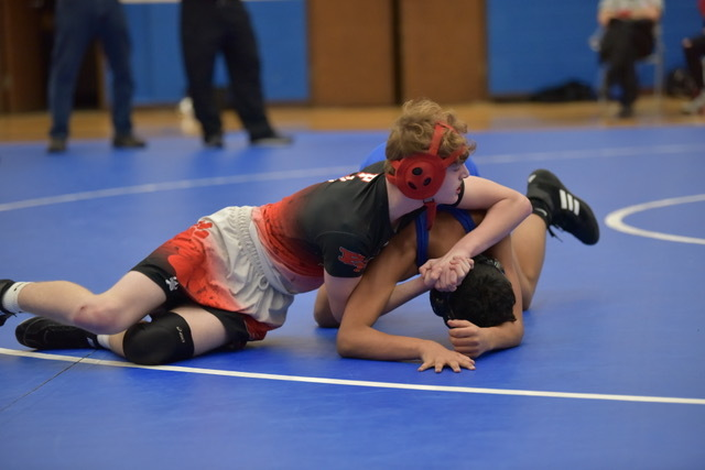 One of our Wrestlers controlling the match.